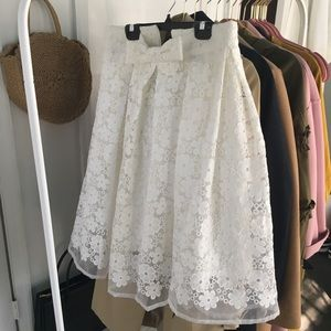 Dresses & Skirts - Embroidered A-line skirt